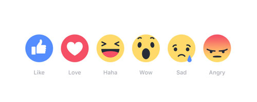 Facebook Fans can Like, LOVE, and even WOW with 5 New Emojis