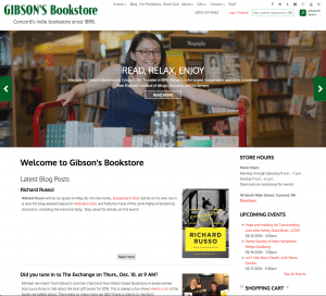 Gibsons Bookstore Website