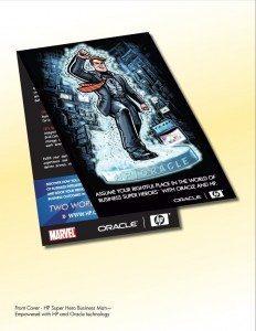 HP Oracle Marvel Talking Brochure