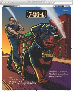 7-20-4 Cigars Dog Walker Ad
