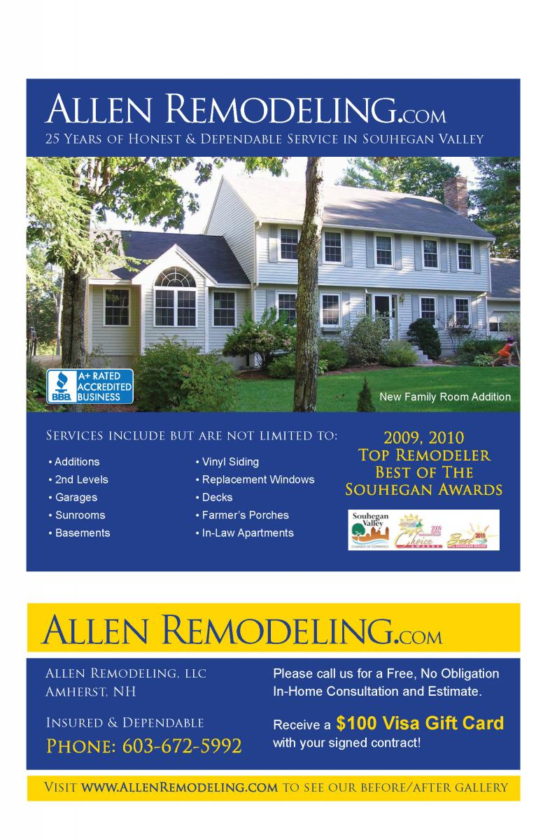 Testimonial from Allen Remodeling, Amherst, NH